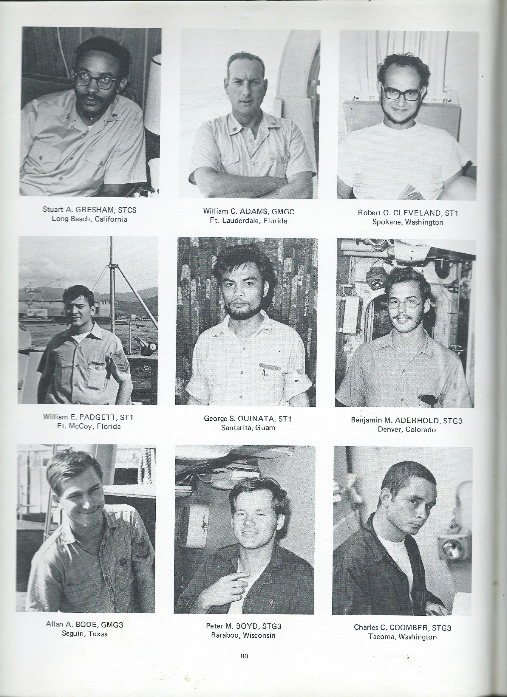 Page 2 of Men in A/S Division I served with on the USS Goldsborough (DDG20)