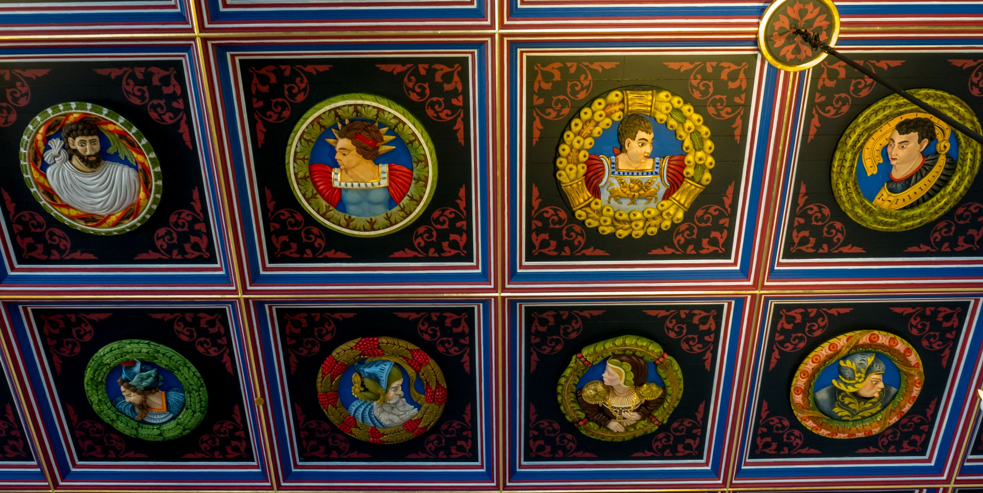 Ceiling detail, Great Hall.