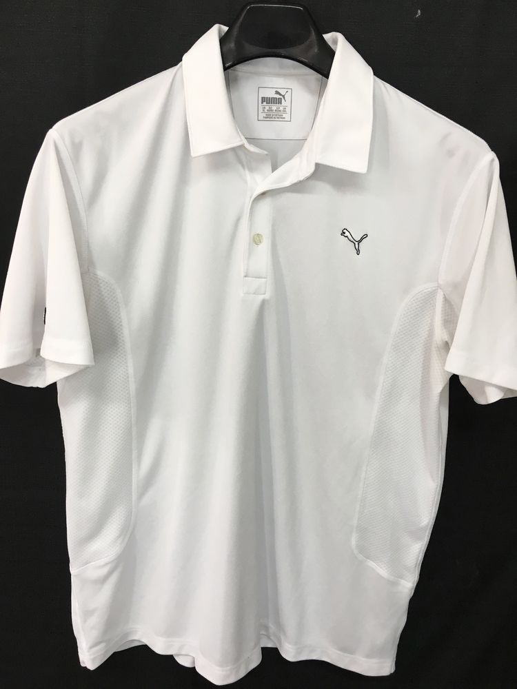 706e212e MENS XL PUMA COOLCELL GOLF POLO SHIRT WHITE CASUAL RICKIE FOWLER LOOKS NEW  #PUMA #PoloRugby
