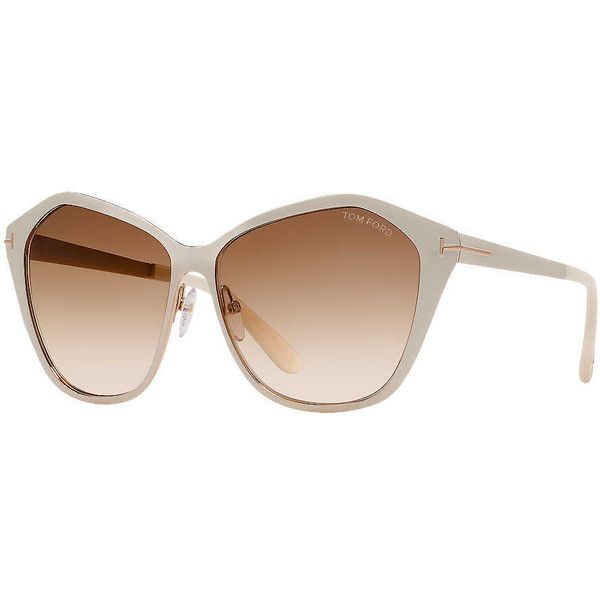 f9a7bc3e99 Tom Ford Ft0391 Lena Ivory Butterfly Sunglasses ( 435) ❤ liked on Polyvore  featuring accessories