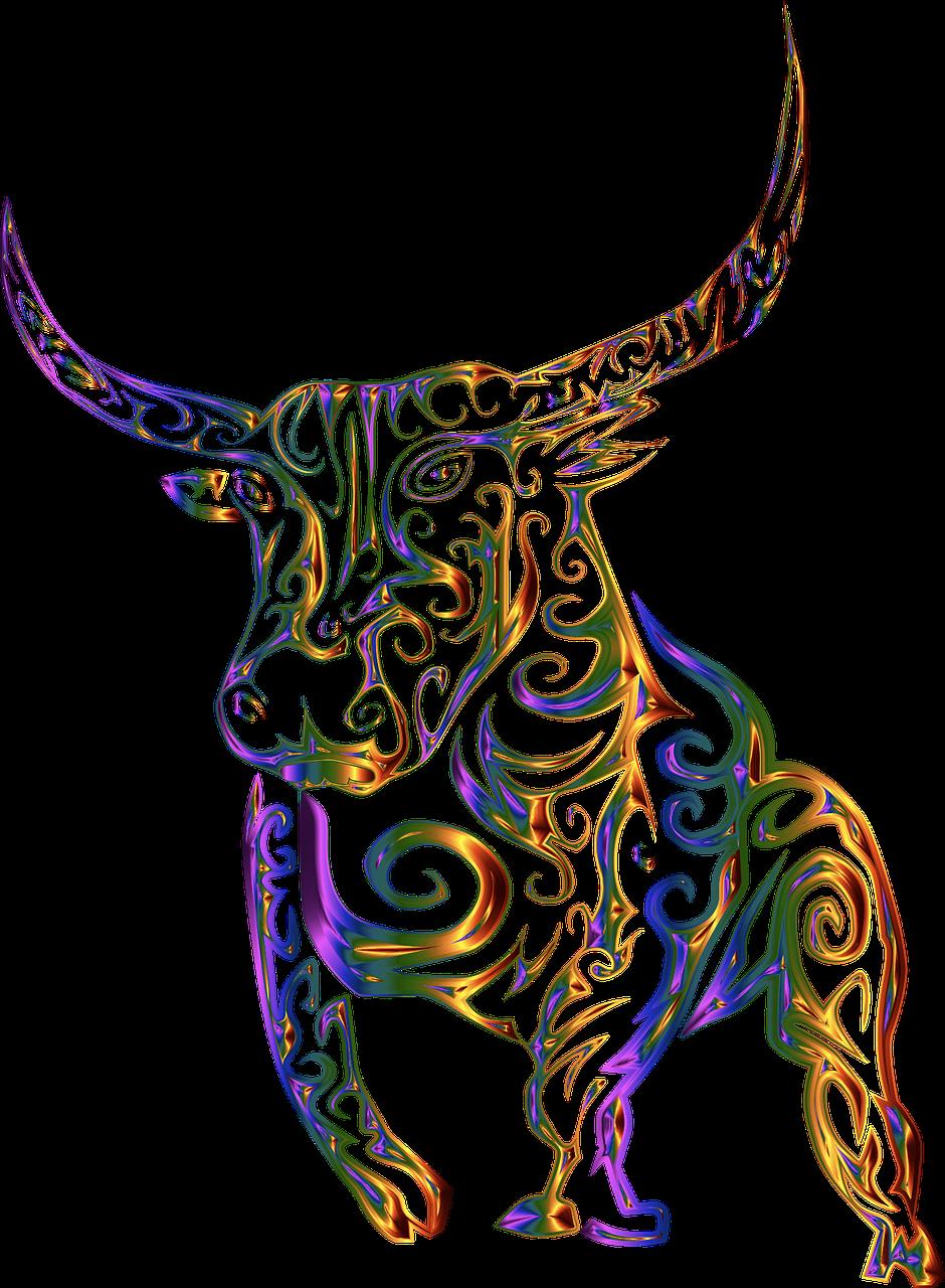 Pixabay'de Ücretsiz Görüntüler Tribal, Boğa, Inek, Soyut