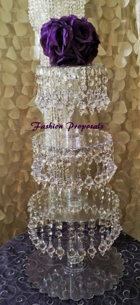 Hey, I found this really awesome Etsy listing at https://www.etsy.com/listing/185977603/crystal-cupcake-tower-4-tiers-cupcake