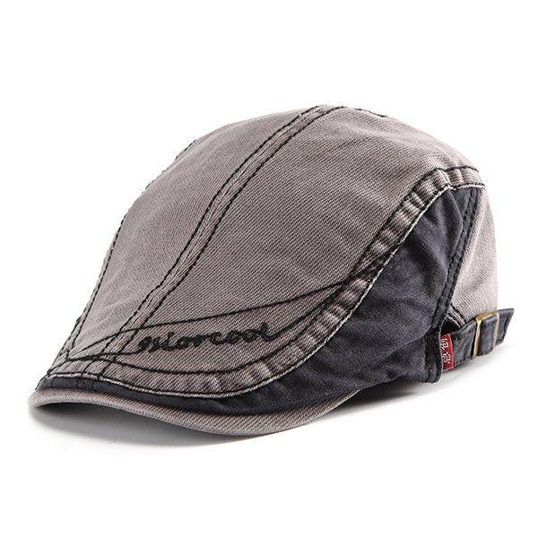 629fc4cce0dfe Homens mulheres retro boina de algodão boné ocasional encabeçado pico chapéu