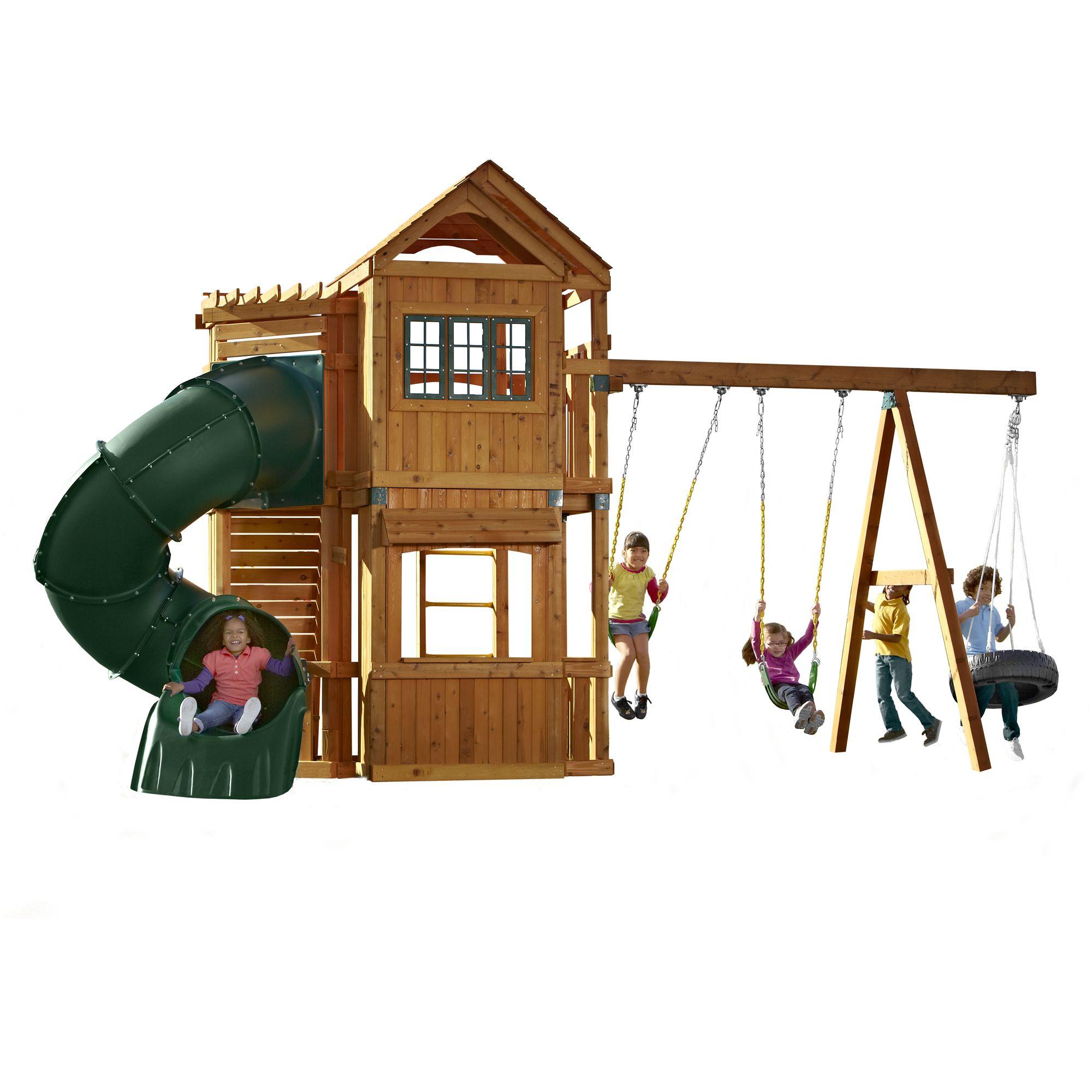 Swing-N-Slide Durango Swing Set by Swing-N-Slide | Swivel, Plays ...