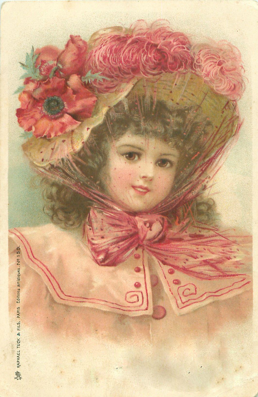Картинки, ретро дети открытки