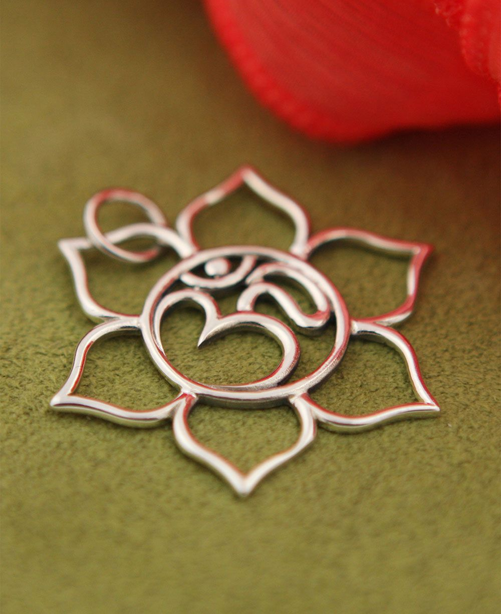 Sterling Silver Om And Lotus Pendant Wire Art Pinterest Lotus