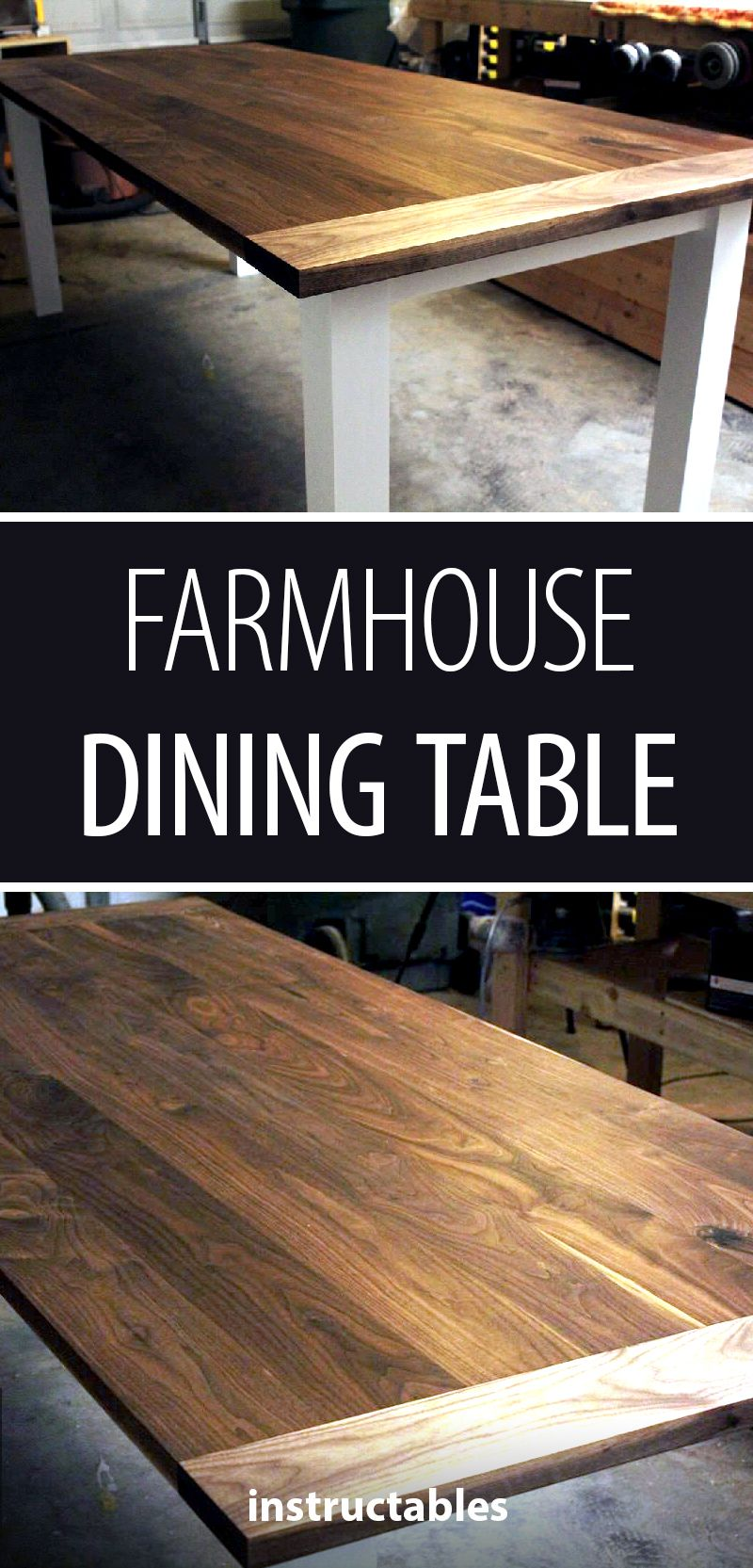 Farmhouse Dining Table Walnut and Alder Cool