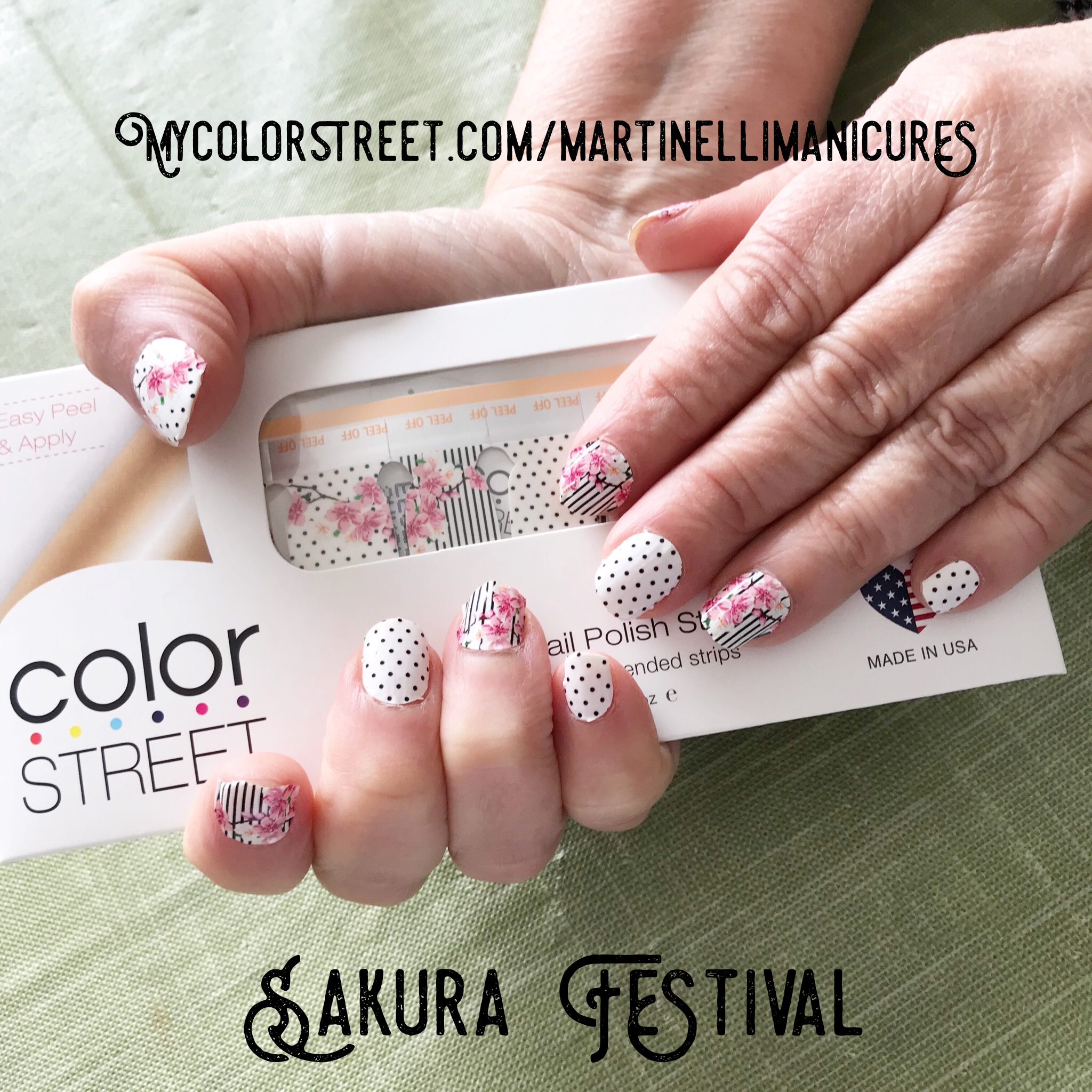 Pretty nails just applied! Color Street. Gorgeous florals. Easy ...
