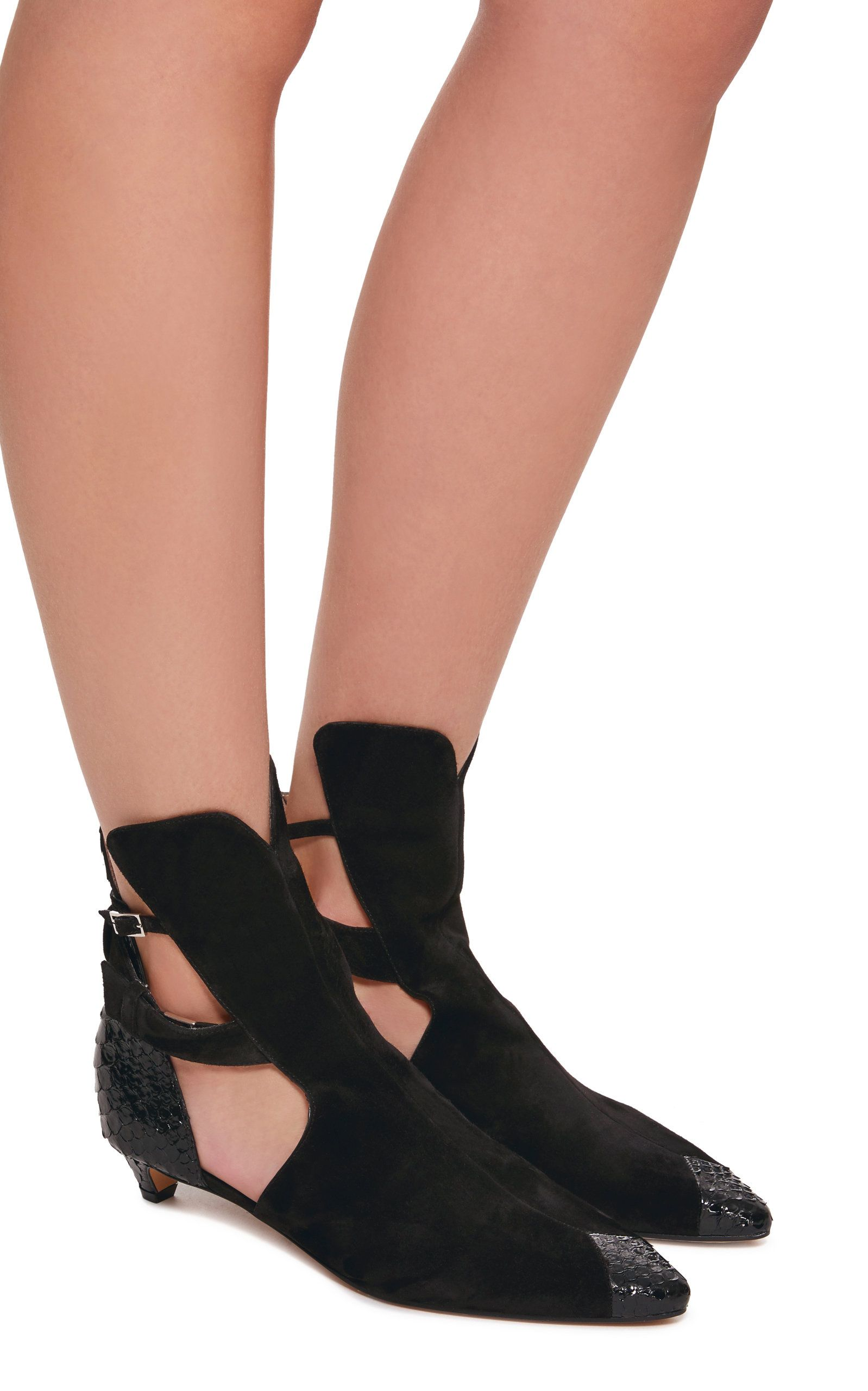 Givenchy Show Python and Suede Ankle Boot Fl9RnZDQCd