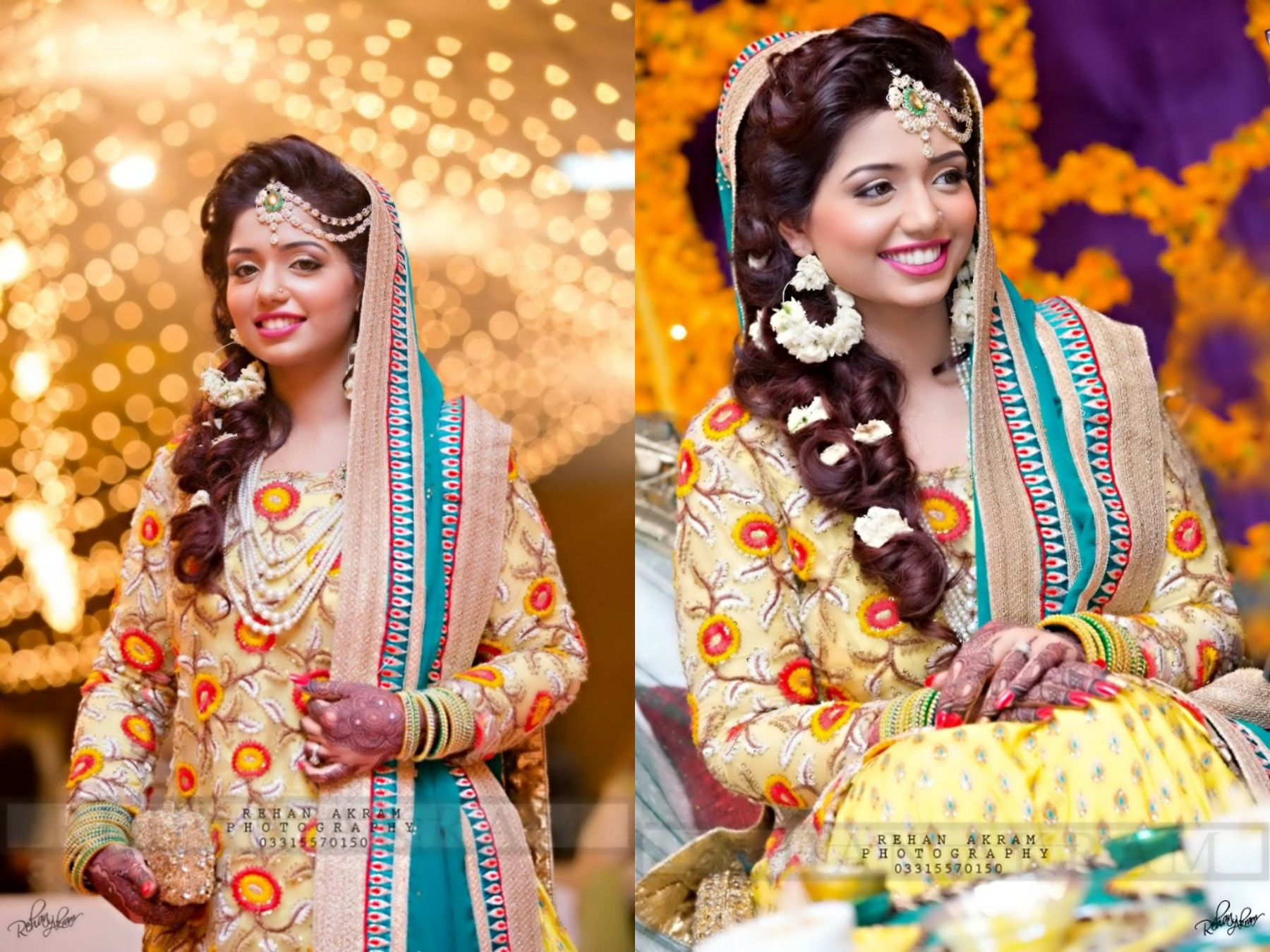 Mehndi Bridal Photoshoot : Pretty mehndi bride photography by rehan akram wedding