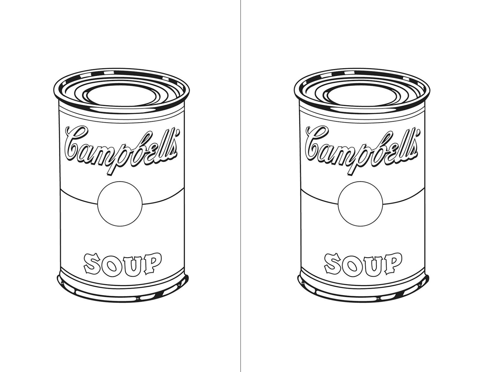 Cans To Use For Templates To Create Art Word Work Math Andy Warhol Soup Cans Andy Warhol Pop Art Art Classroom