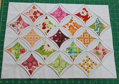 hand piecing cathedral windows tutorial   quilts - tutorials and ... : cathedral window quilt tutorial - Adamdwight.com
