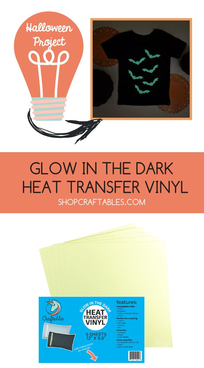 Glow In The Dark Iron On Vinyl Sheets Gid Iron On Vinyl For Cricut By Craftables Heat Transfer Vinyl Tutorial Cheap Heat Transfer Vinyl Glitter Heat Transfer Vinyl