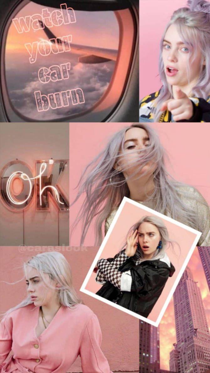 Billie Eilish pink aesthetic wallpaper by juli3569 on DeviantArt