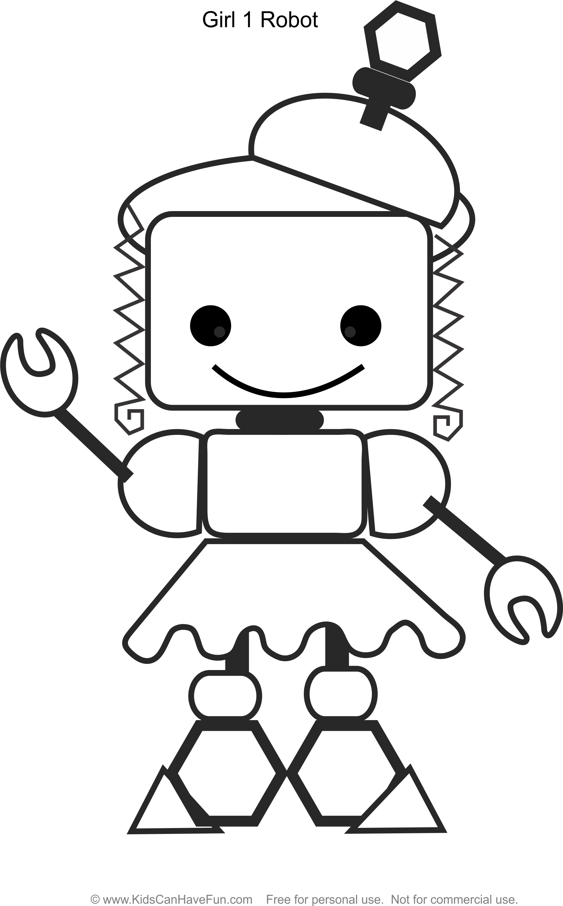 Pin By Kidscanhavefun Com On Robot Coloring Pages Robot Girl