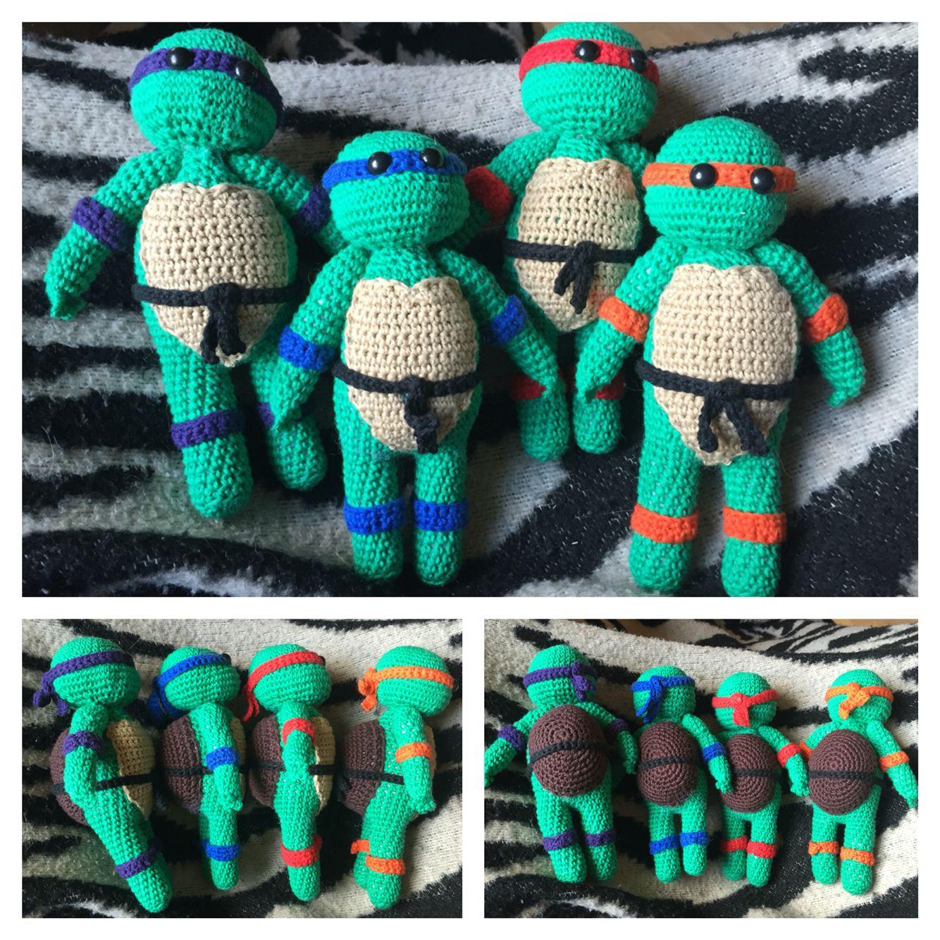Hæklede Ninja Turtles   Mine hæklerier   Pinterest