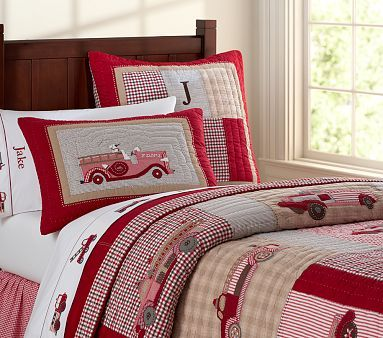 Fire Truck Bedding For Connor Too Bad Pottery Barn