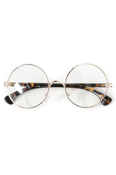 Vintage Retro Round Glasses Frame - OASAP.com