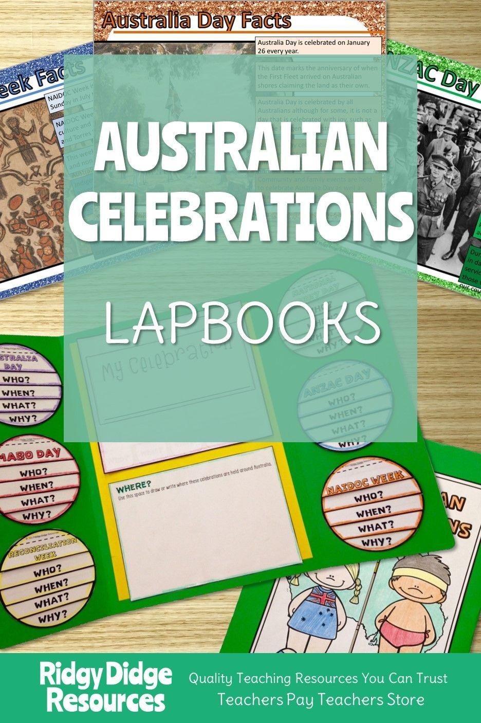 Australian Celebrations Lapbook Activities Naidoc week