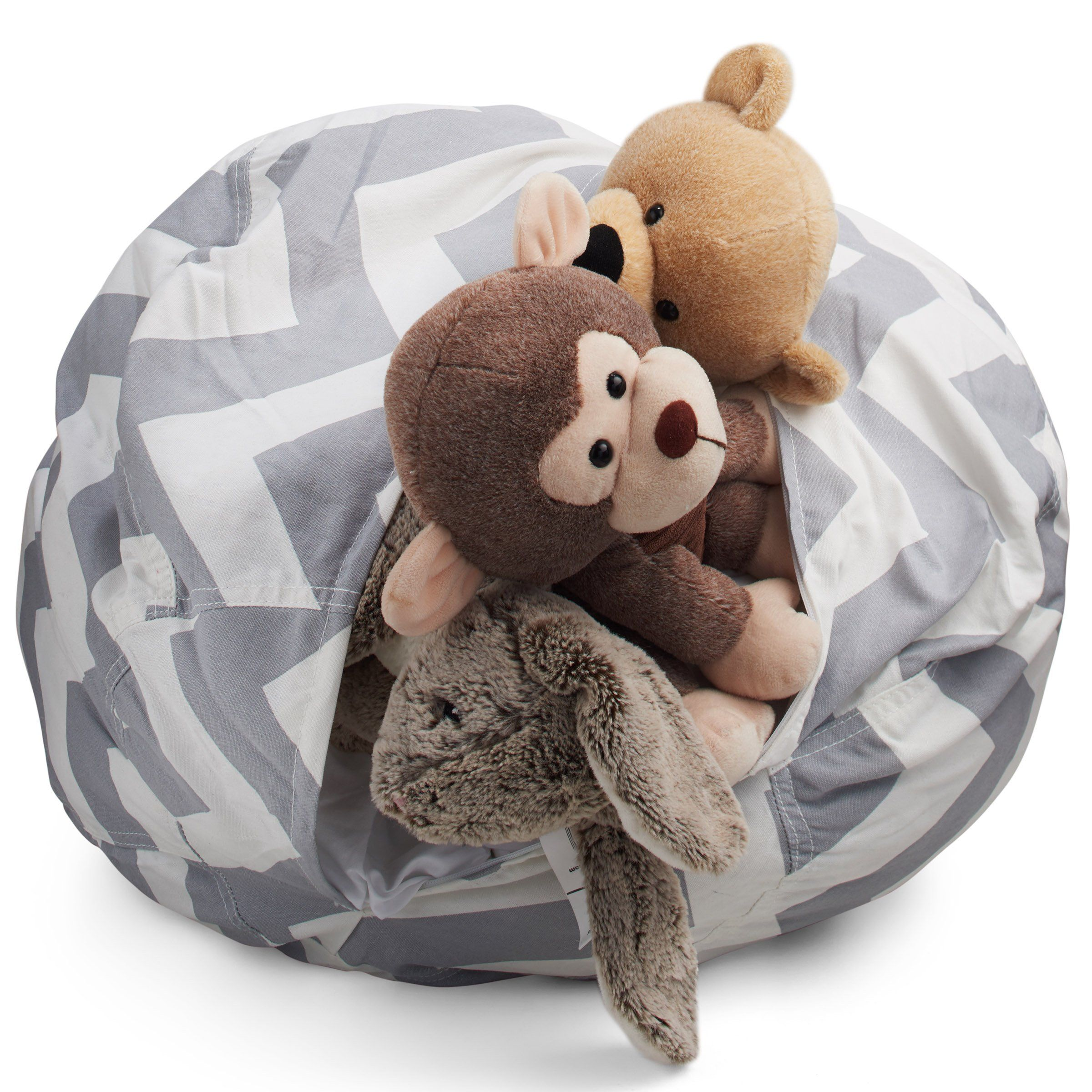Smart additions stuffed animal storage bean bag chair in