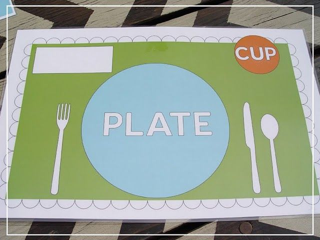 kids place setting doodle activity - other side is activity board. laminate so they can & Dinnertime Doodle Mats (SSG Idea #16 | Placemat Kids learning and ...