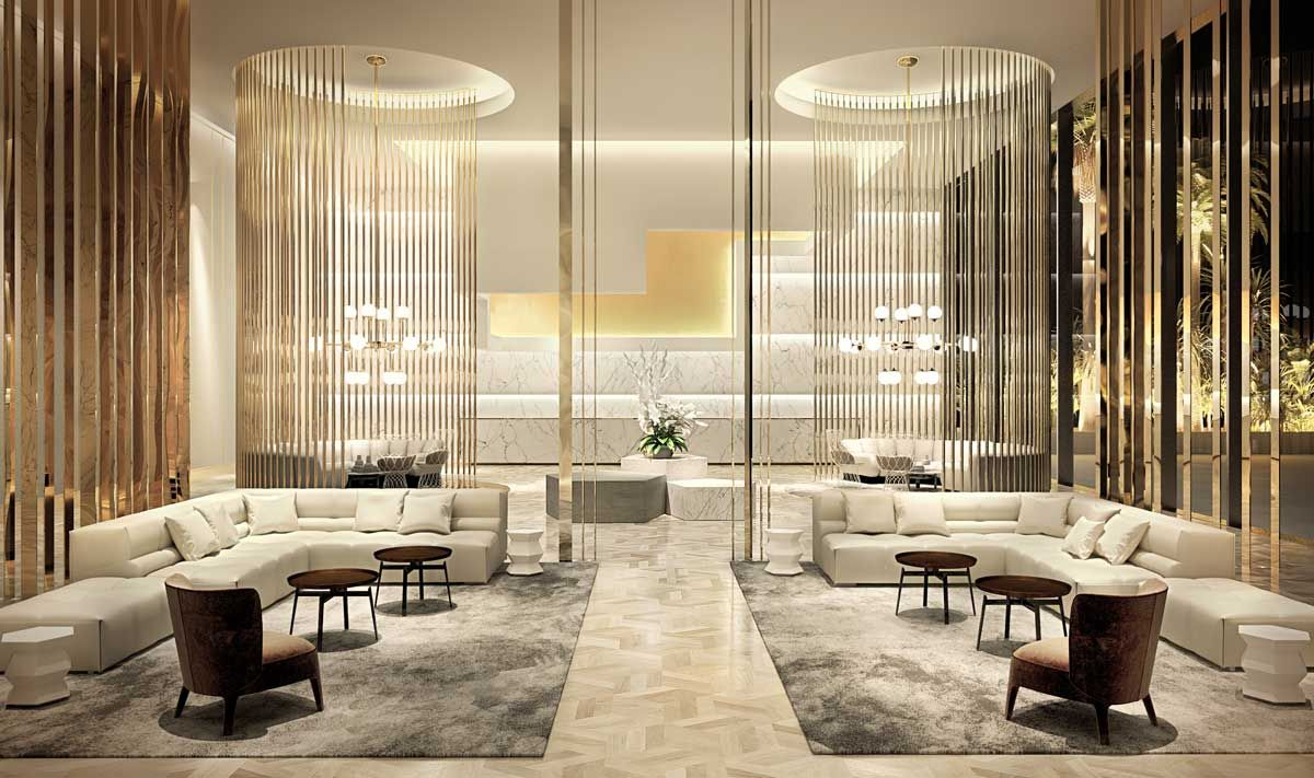3d rendering luxury hotel lobby china luxury china hotel lobby - Rendering And Concept Design Of A Luxe Hotel In Marbella By Berga Gonz Lez Architects