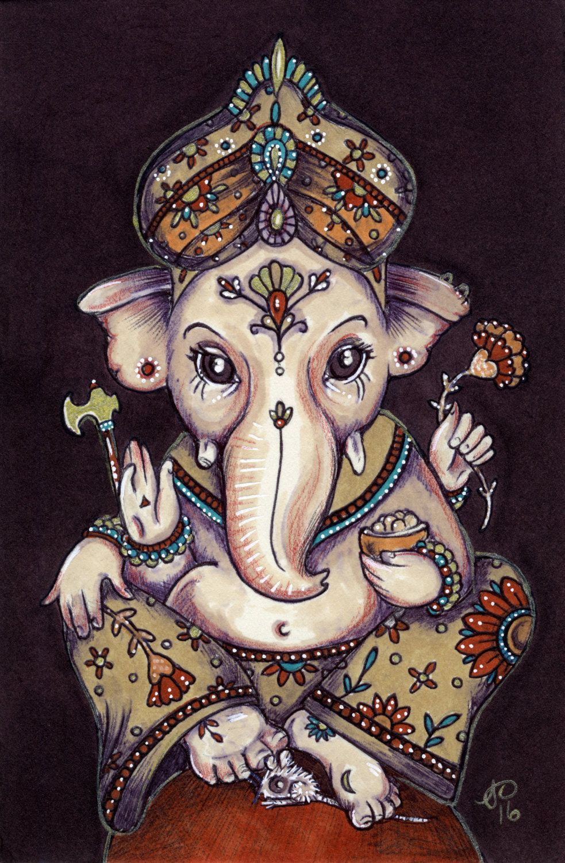 Ganesha Signed Ltd Edition by AnitaInverarity on Etsy