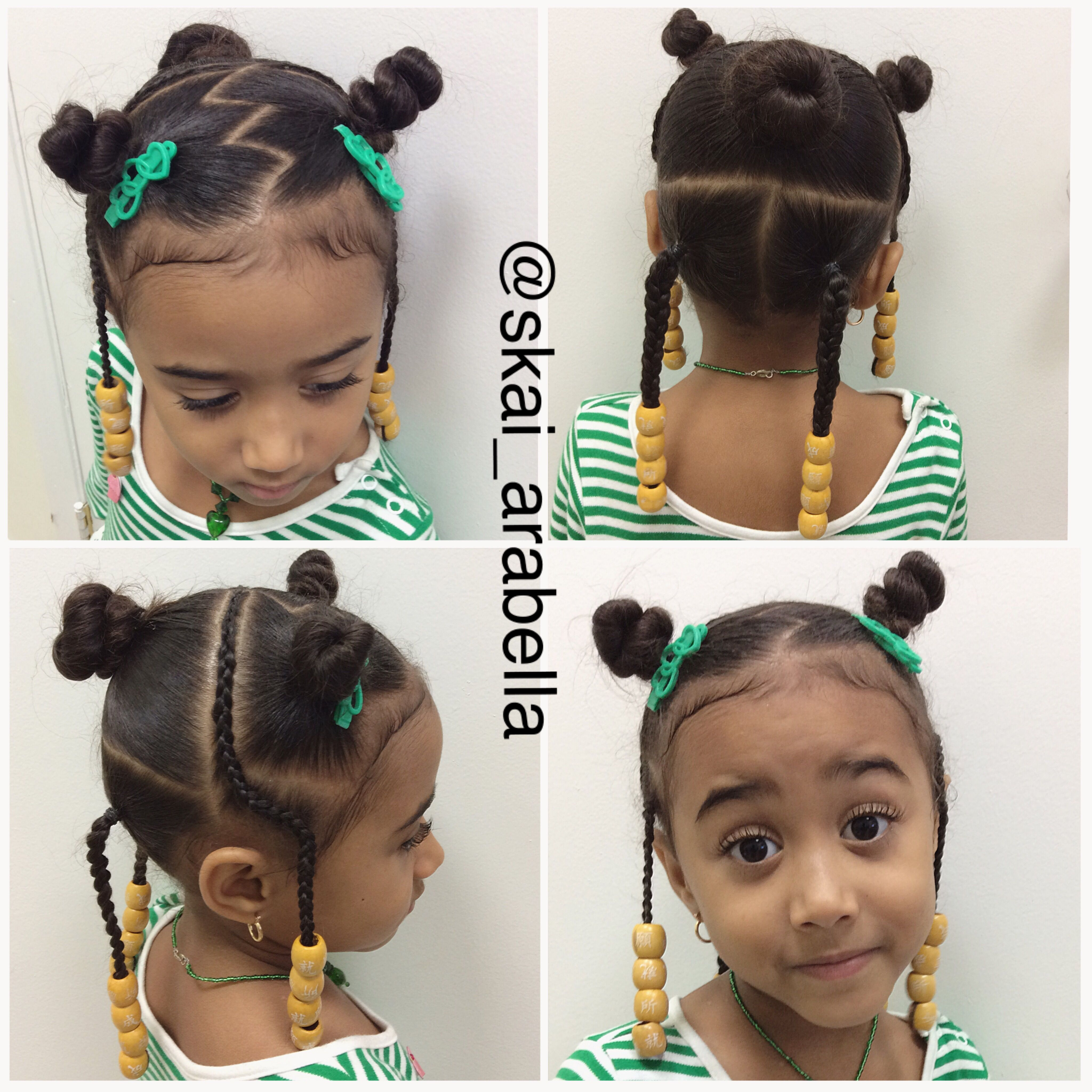toddler hairstyle with wooden beads   cute kids hair styles