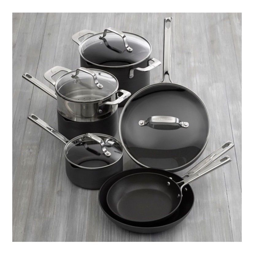 Emeril Lagasse 11 Piece Hard Anodized Nonstick Cookware Set 62570