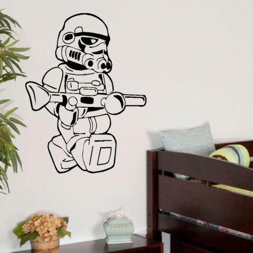LARGE DARTH VADER STAR WARS CHILDRENS BEDROOM WALL STICKER ART TRANSFER DECAL