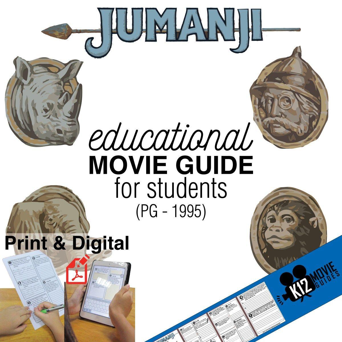 Jumanji Movie Guide Questions Worksheet Pg