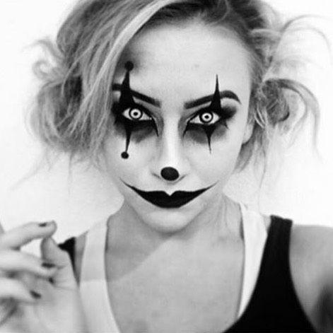 Resultado de imagen de maquillaje de arlequin de terror Disfraces