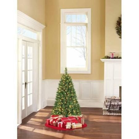 Holiday Time Pre-Lit 4\u0027 Indiana Spruce Artificial Christmas Tree