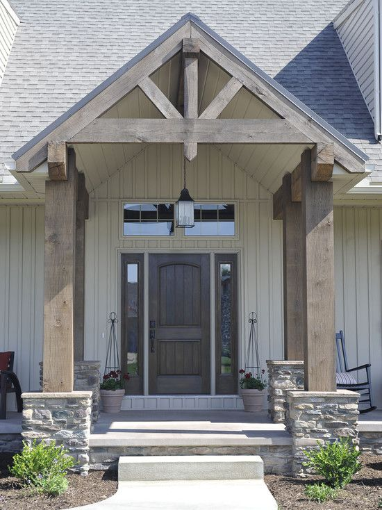 Like the stained columns humble abode pinterest Car porch pillars designs
