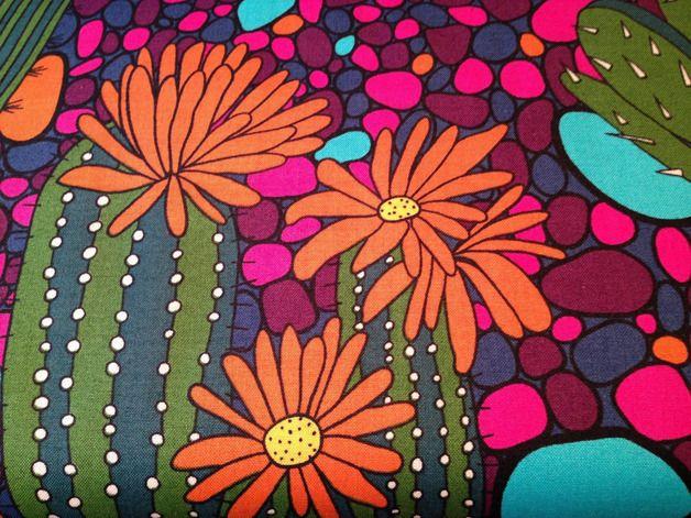 """Designerstoffe USA - Alexander Henry Stoff """"Verde"""" Kaktus NEU - ein Designerstück von Bubble-Bunt bei DaWanda"""