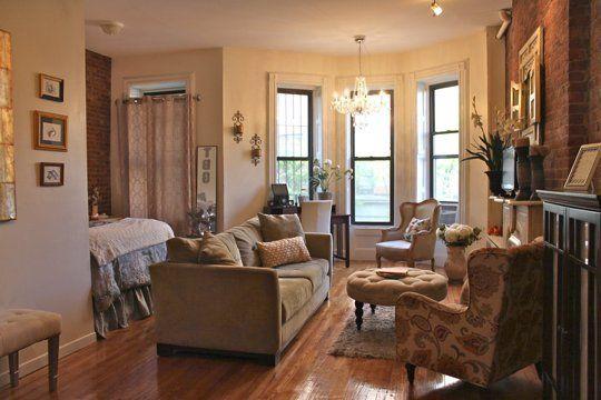 Tiffany S Serene Studio Small Cool Contest Brownstone Interiors Apartment Style Apartment Living
