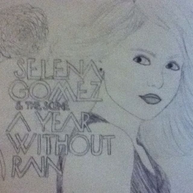 Selena, year without rain album cover  drawn by: @Kristen Clark