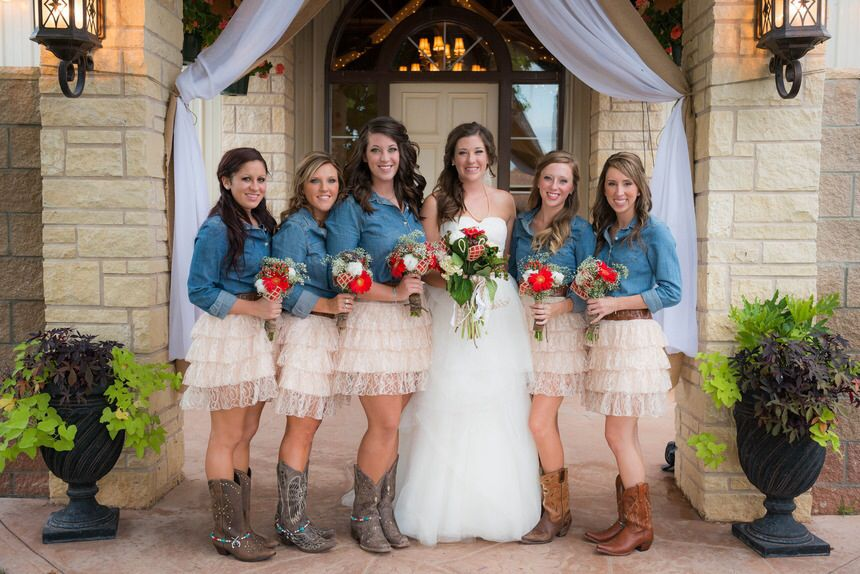frilly bridesmaid dresses country