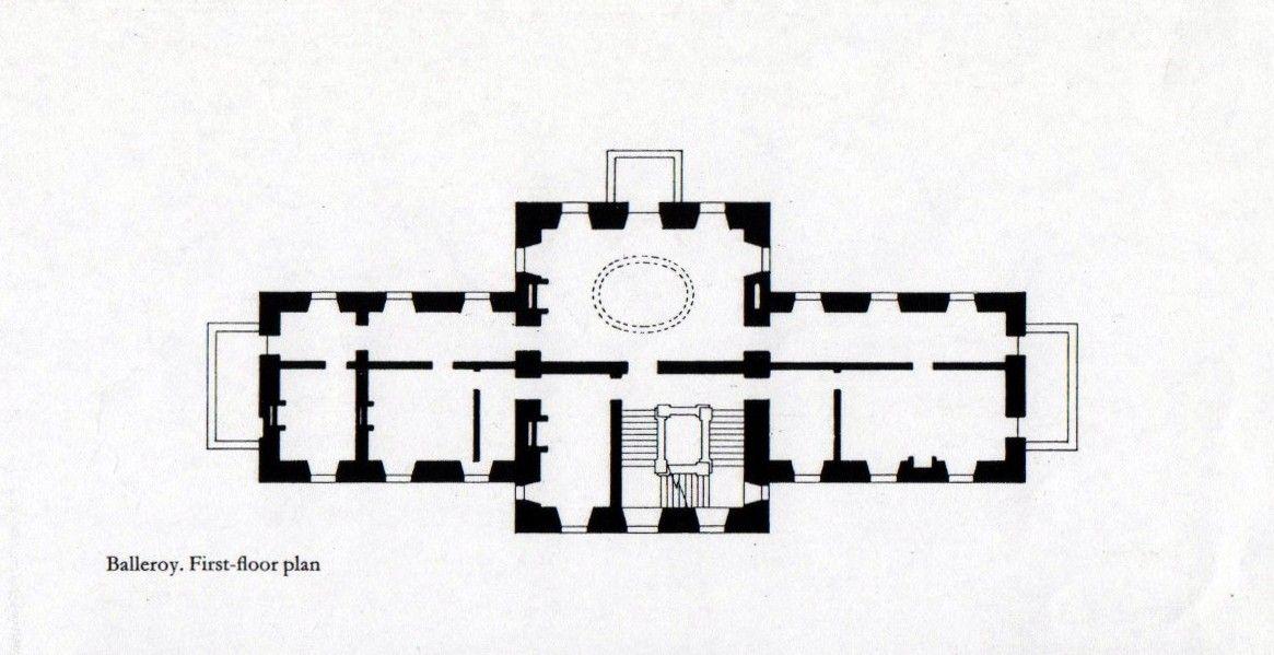 Chateau De Balleroy Normandie Plan Du 1er Etage Floor Plans Vintage House Plans French Cottage