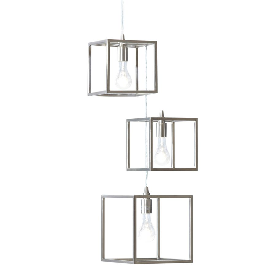 Style Selections Arctura 17 In 3 Light Brushed Nickel Chandelier