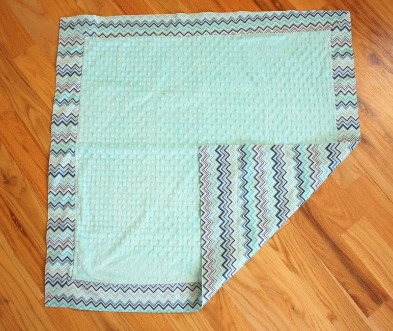 Simple and Quick 30 Minute Baby Blankets | Mitered corners ... : miter corners on quilts - Adamdwight.com