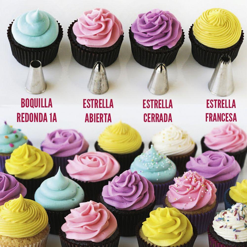 Puedes hacer muchas decoraciones en tus cupcakes for Decoracion en cupcakes