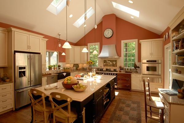 Kitchen lighting vaulted ceiling kitchen fascinating lighting kitchen lighting vaulted ceiling cathedral ceiling kitchenlove the sky lights kitchen aloadofball Image collections