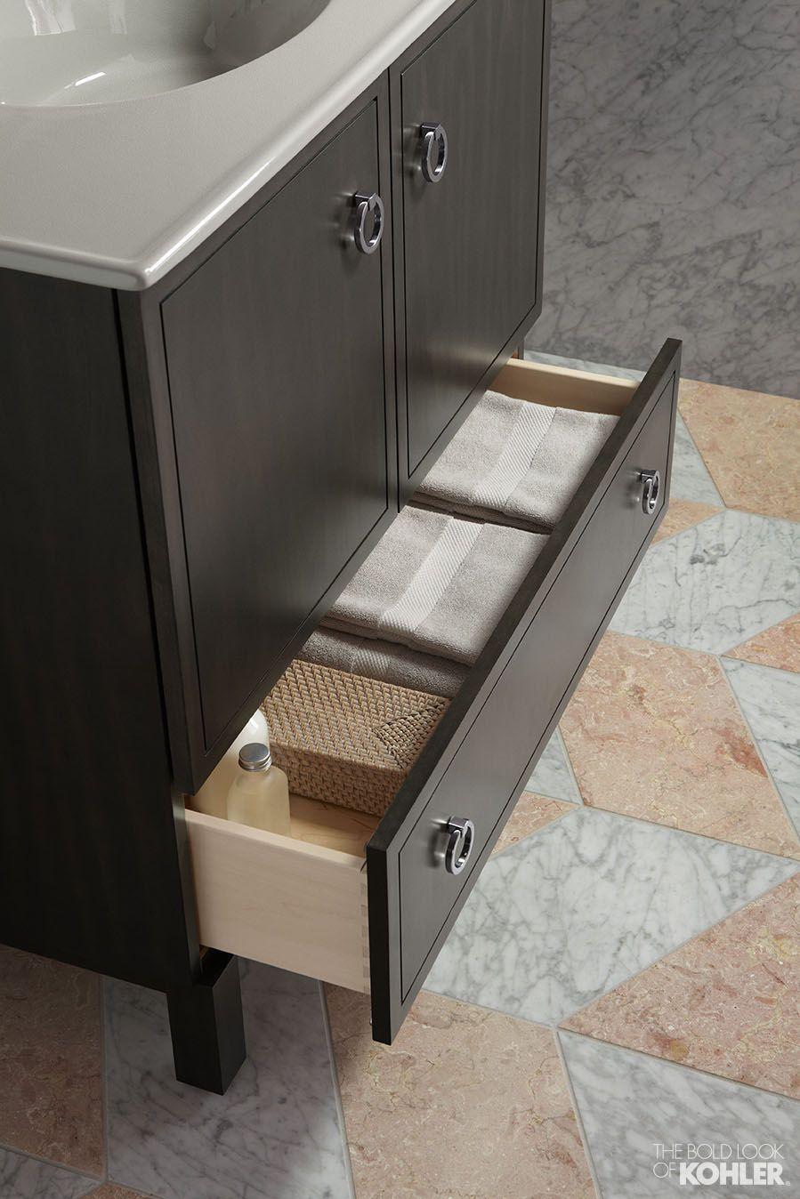 bathroom towel in the kohler jacquard tailored vanity - Kohler Vanity