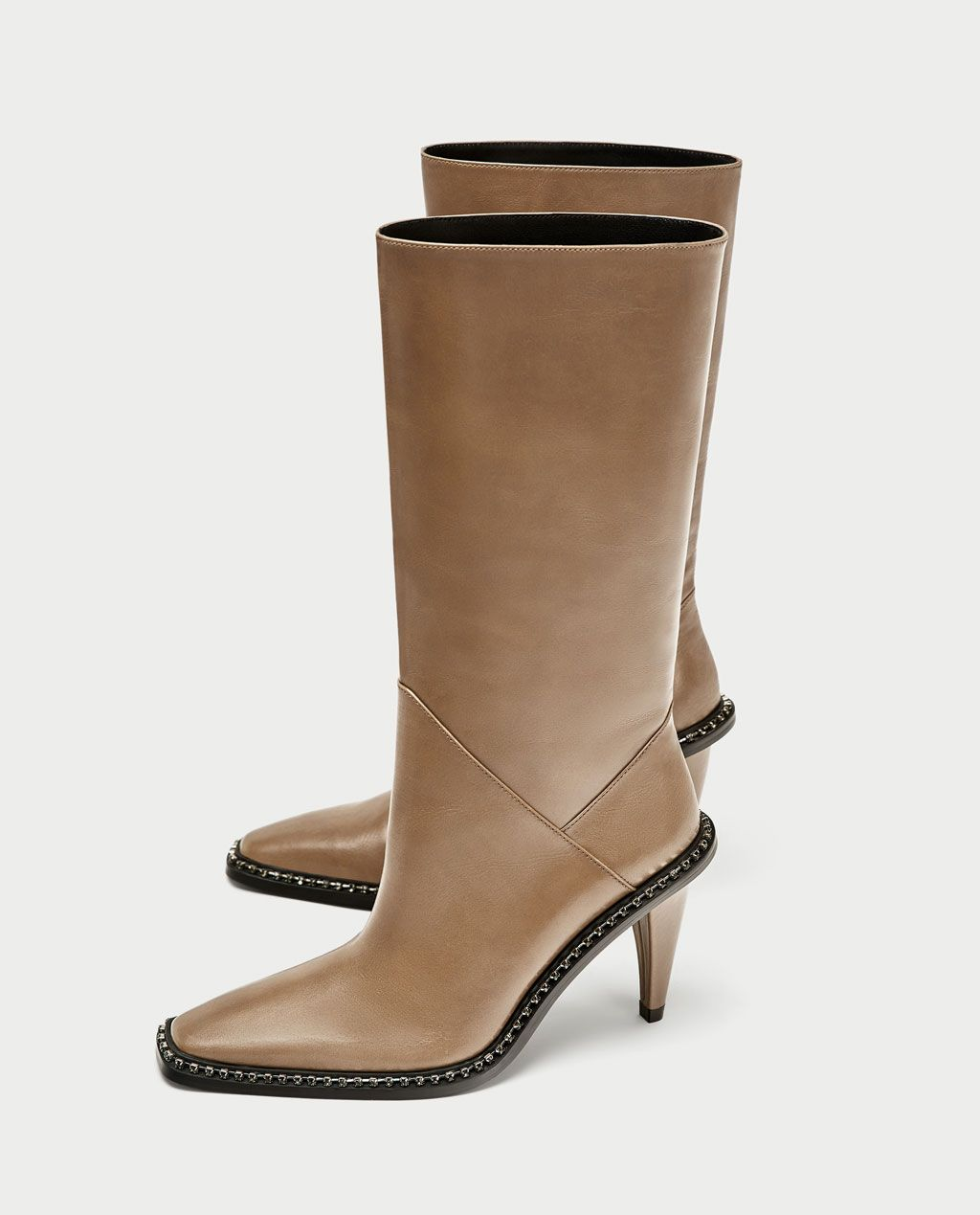 16e9919347d HIGH HEEL LEATHER BOOTS-View all-SHOES-WOMAN | ZARA United States ...
