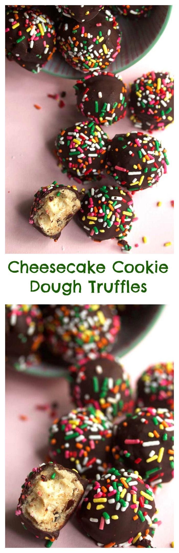 Cheesecake Cookie Dough Truffles   Grandbaby Cakes