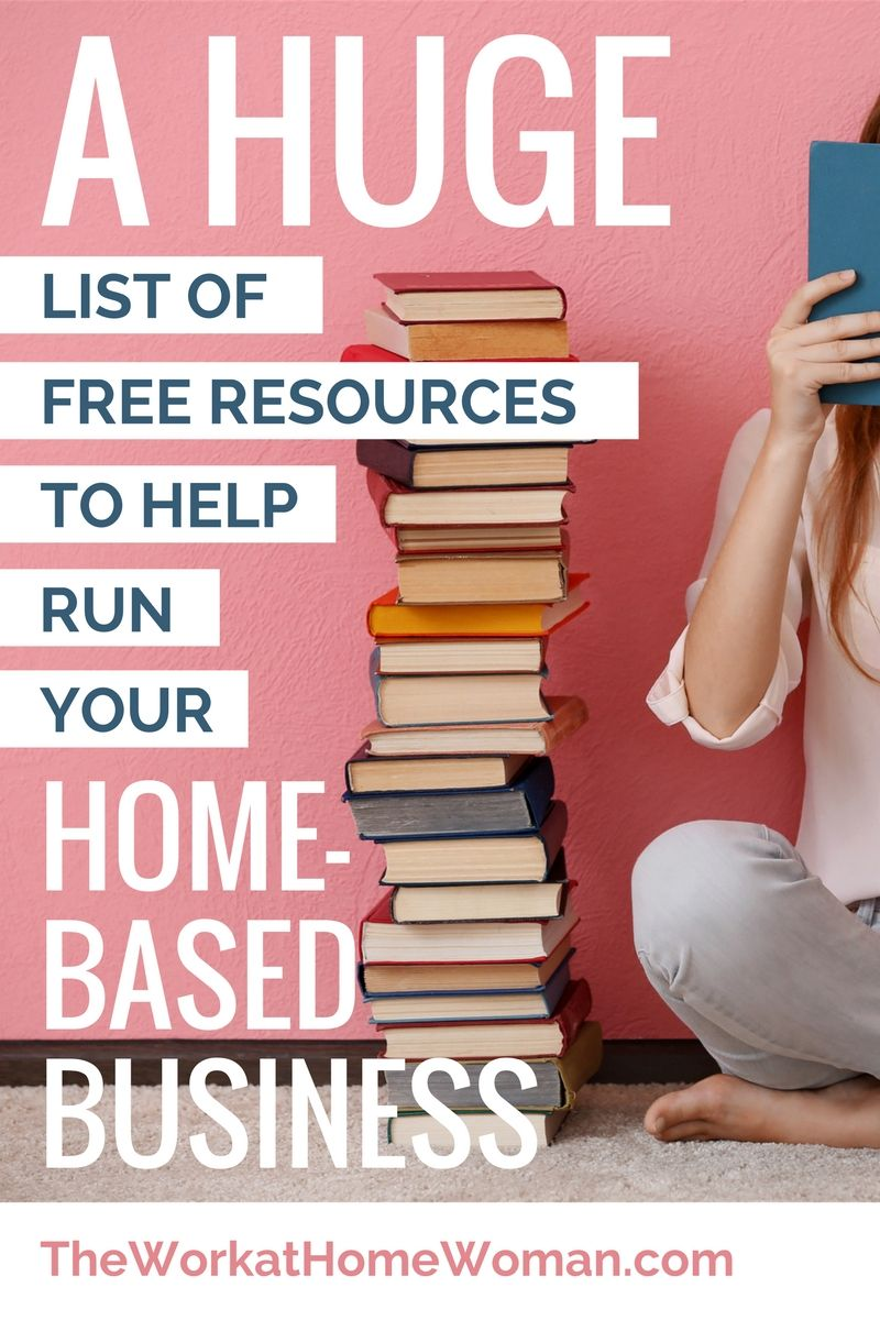 a huge list of free resources to help run your home based business