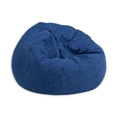 Phenomenal Flash Furniture Kids Small Bean Bag Chair In Denim Inzonedesignstudio Interior Chair Design Inzonedesignstudiocom