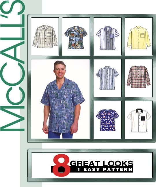 Mccall S 2149 Men S Shirt Mens Shirt Pattern Mens Sewing