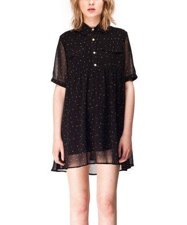 Look at this #zulilyfind! Black Trip Dress by KLING #zulilyfinds